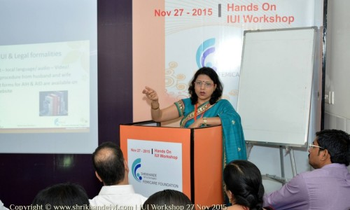 Dr Laxmi Conducting IUI workshop at Nagpur