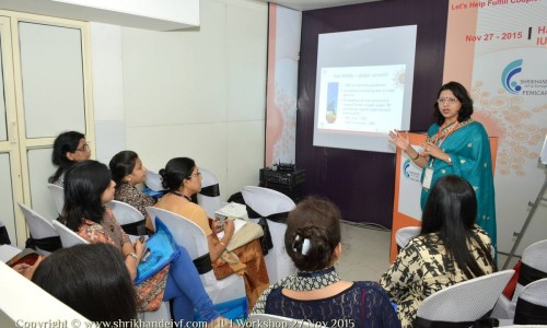 Dr Laxmi Conducting IUI workshop