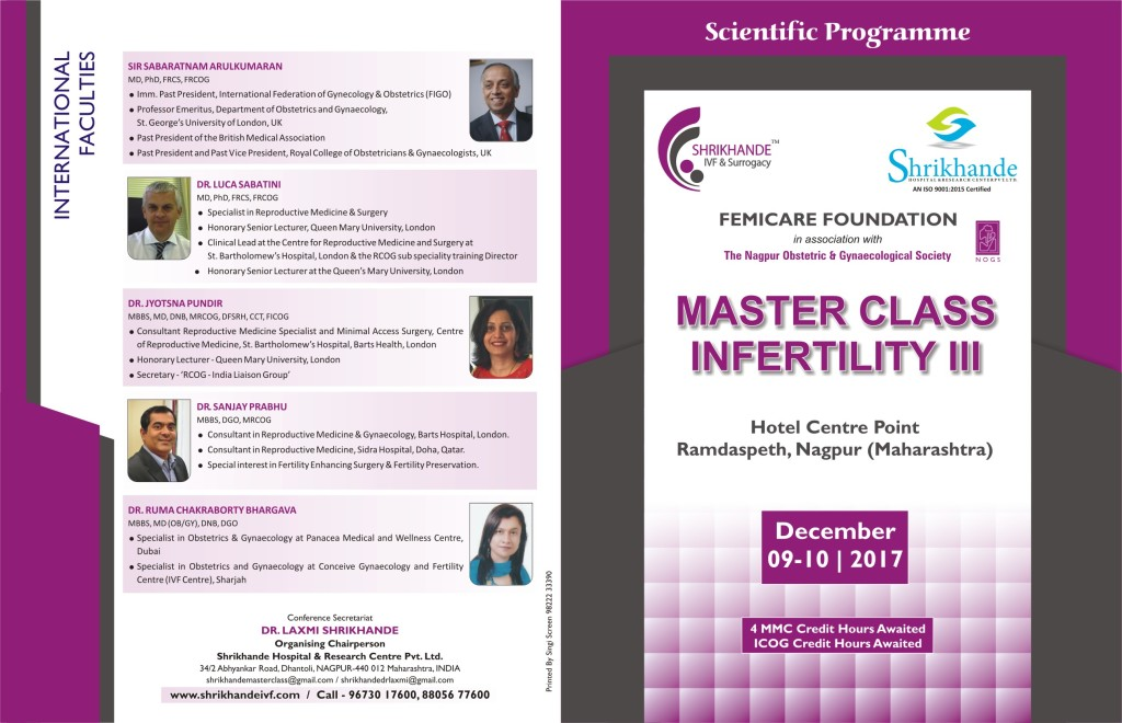 Masterclass Infertility III Scientific Programme
