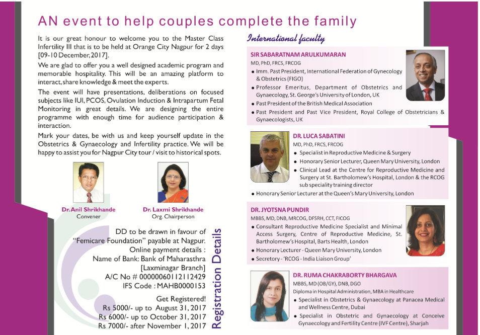 Masterclass Infertility Series III