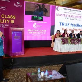 Dr Ruma Chakraborty Speaing at Masterclass Infertility III 2017