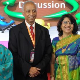 Dr Arulkumaran Sabaratnam with Dr Laxmi Shrikhande at Masterclass Infertility III Nagpur